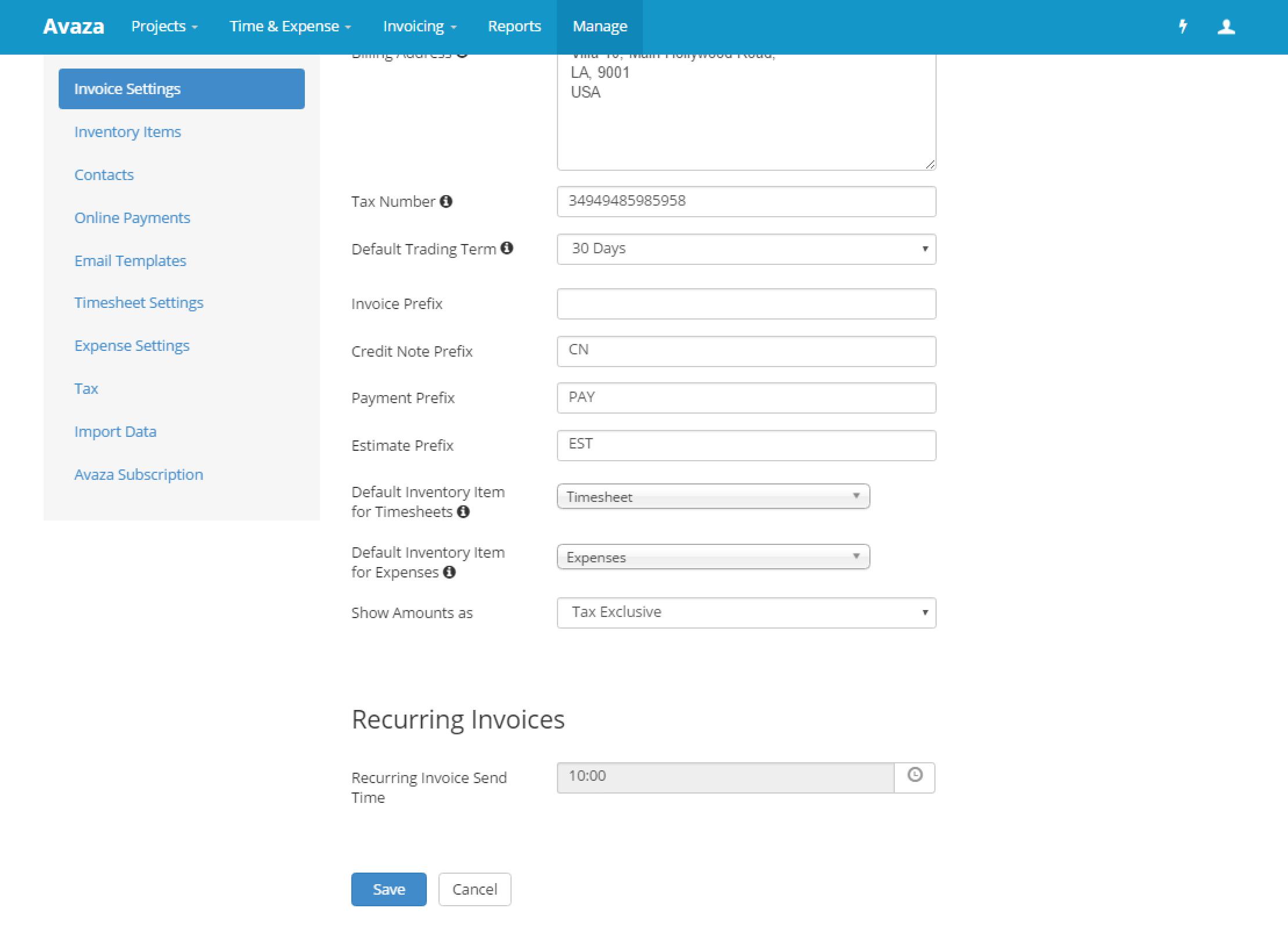 Recurring Invoice Invoice Setting Avazacom - Quickbooks online recurring invoice