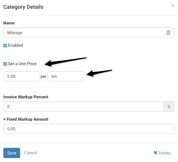 Add Category for Mileage Support