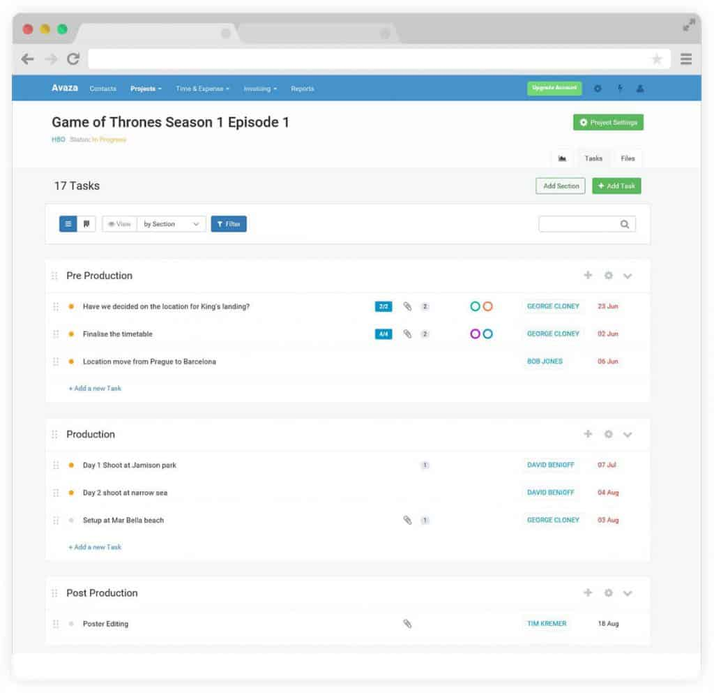 avaza introduces improved task lists avaza com