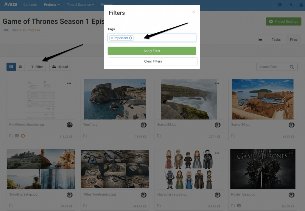 Use Tags to Filter through Files