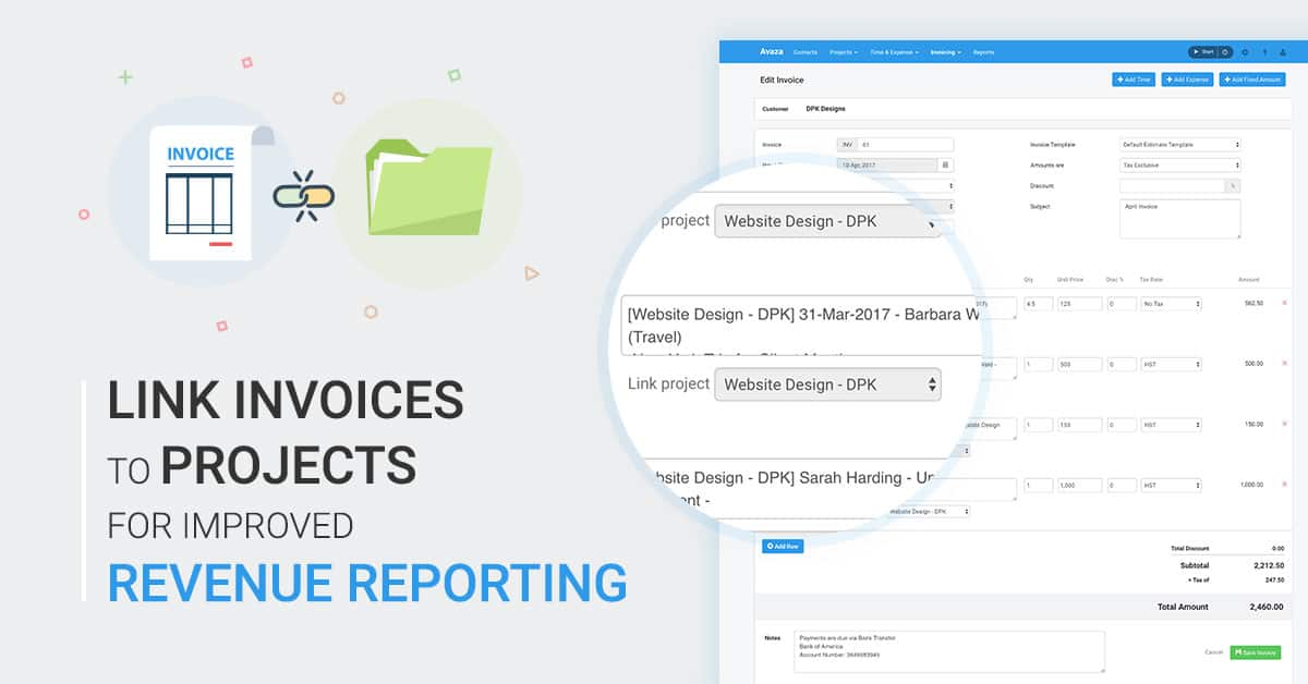 link invoices to projects for improved revenue reporting