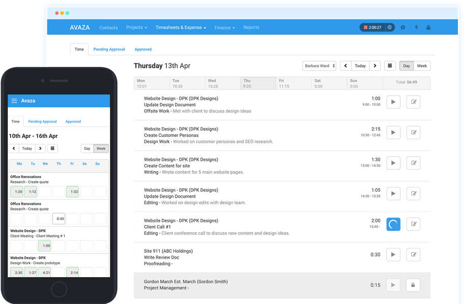 Avaza - Online Timesheets, Time Tracking & Reporting
